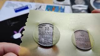 Открываю новые письма. Марки и монеты русской Финляндии.