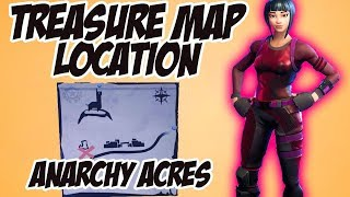 Anarchy Acres Treasure Map Location - Fortnite Battle Royale (Week 5 Battle Pass Challenge)