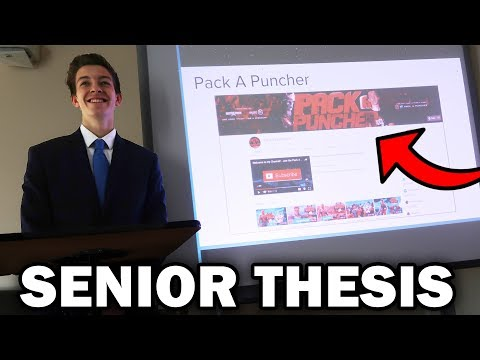 BIGGEST PRESENTATION OF MY ENTIRE LIFE! - Senior Thesis Research Study (Growing a YouTube Channel)