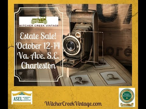Witcher Creek Vintage Estate Sale! Oct 12-14, Virginia Ave SE, Kanawha City