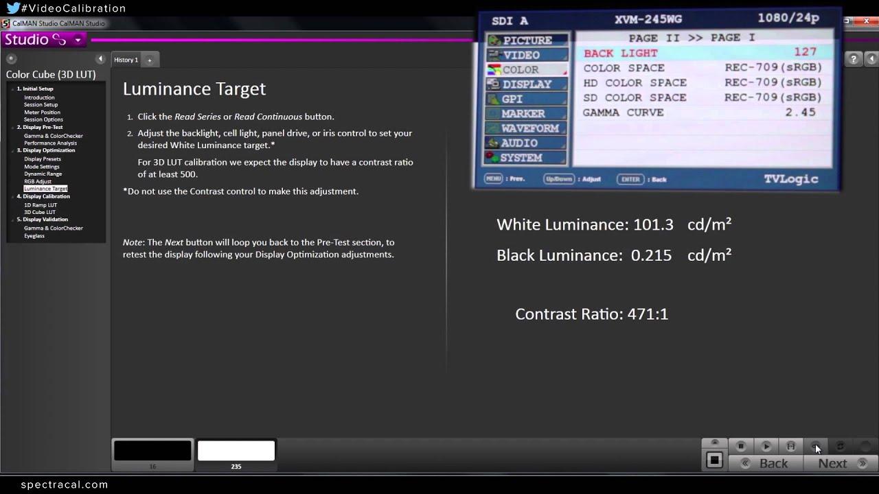 Luminance Target and Pre-Calibration Test - CalMAN Studio Webinar Topics  Part 5