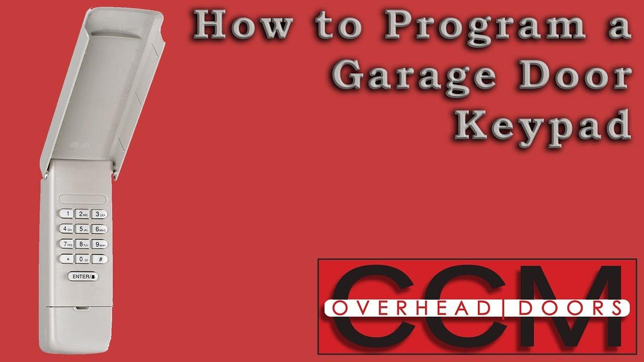 How To Program An 877 Max Keypad To A Liftmaster Garage Door Motor Yukon Ok Youtube