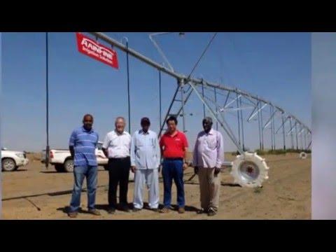 Rainfine pivot in Sudan