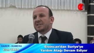 Erzincan'dan Suriye'ye Yardım Atağı Devam Ediyor