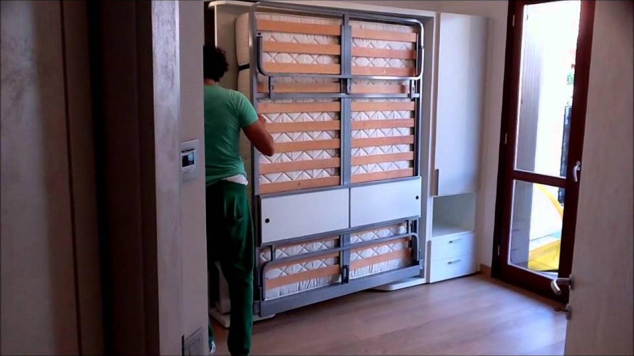 costruire letto a scomparsa verticale: linvisibile presenta il ... - Mobili Trasformabili Video