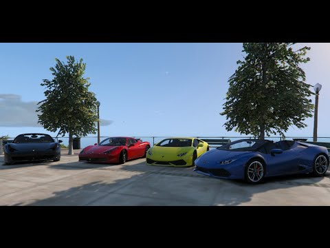 gta v lamborghini huracan spider vs ferrari 458. Black Bedroom Furniture Sets. Home Design Ideas