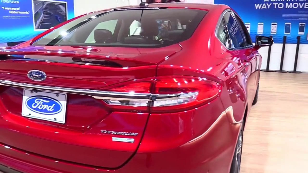 2017 Ford Fusion Anium Red Se Limited Luxury Features Exterior And Interior First Look Hd