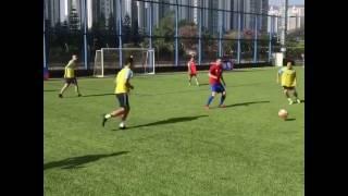 kitchee u18 training with david villa
