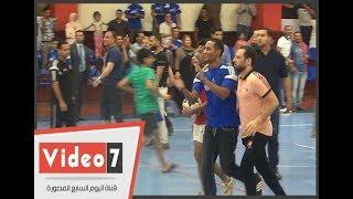 شاهد كواليس مشاركة محمد رمضان وأحمد جمال فى نهائى مباراة شباب المتعافين