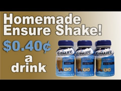 Homemade Ensure Shake (Save $520) - YouTube