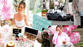 my quarantined surprise birthday party!! *i cried so hard