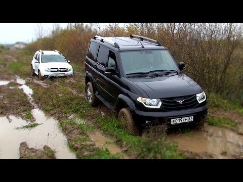 Renault Duster 2.0AT 4WD и UAZ Patriot в грязи
