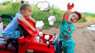Baby Arthur helps Melissa fix a car