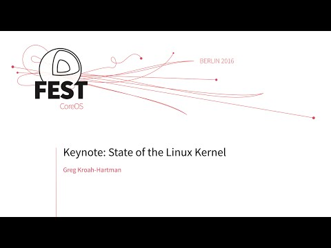 Keynote: State of the Linux Kernel, Greg Kroah-Hartman