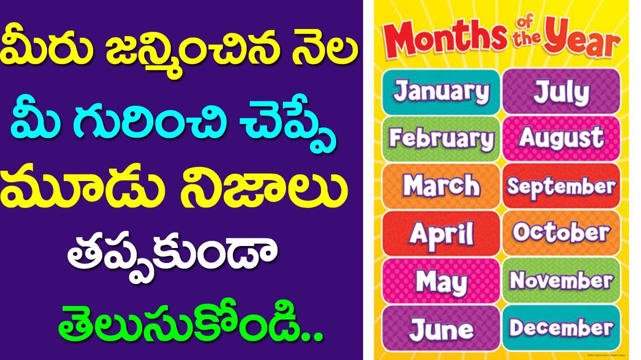 Birth Of Month Tells About Your Character What Your
