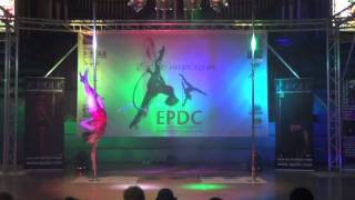 Evelyn Minall - Intermediate Pole - Emma's Pole Dancing Championship 2014