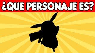 ¡RETO!¿Puedes adivinar el personaje de caricaturas SOLO con una silueta?