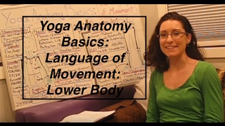 """Yoga ANATOMY Basics3""- Language of Movement: Lower Body-  LauraGyoga"