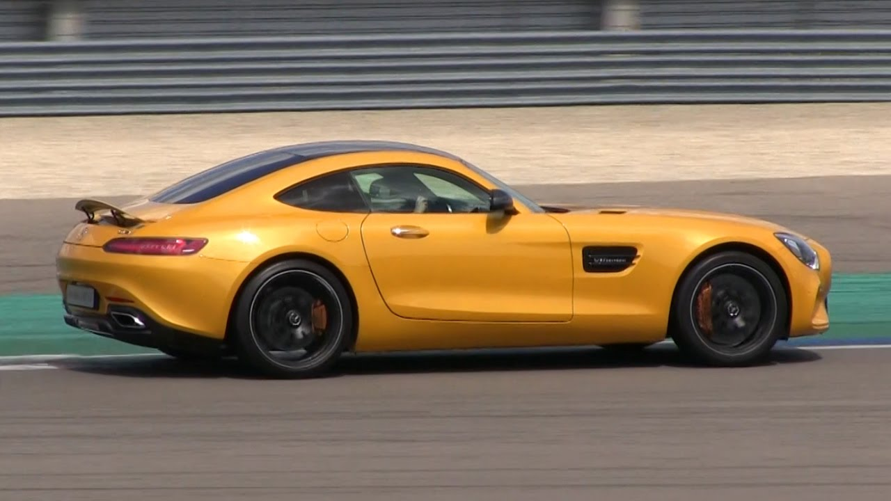 Solarbeam Yellow Mercedes Amg Gt On The Track Lovely Sound