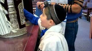 Eight Year Old Torah Reader - Third Aliyah for 5th Day of Hanukkah