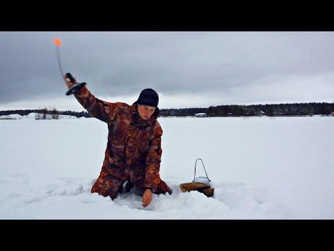 Щука  Зимняя Рыбалка на жерлицы Как я Ловил Щуку на Живца в Глухозимье (Видео Ловля)  MF №89