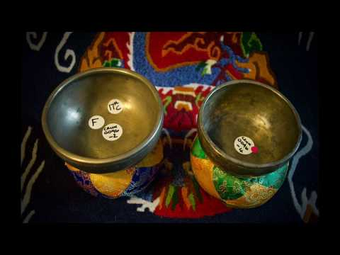 Antique Thadobati 'cups' Singing Bowls - paired F5 - Silence In Sound