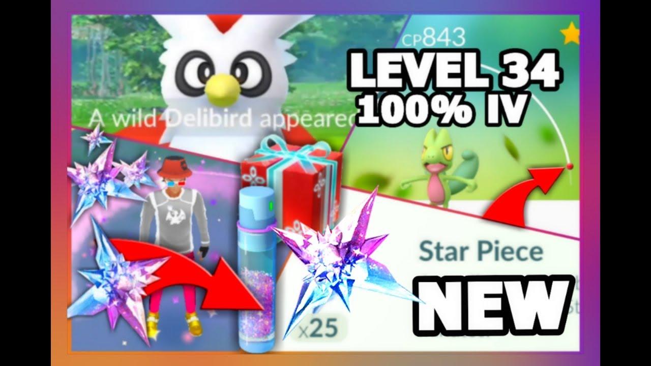 POKEMON GO NEW STAR PIECE GRINDING | WILD 100% IV LEVEL 34 GEN 3 POKEMON