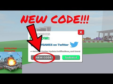 NEW! Destruction Simulator || NEW CODE!! || Roblox (CODE EXPIRED)