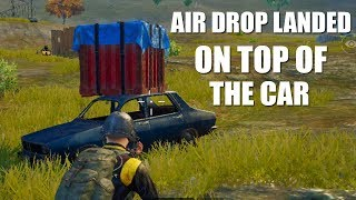 (HINDI) OMG PUBG MOBILE AIR DROP LANDED ON TOP OF THE CAR !!
