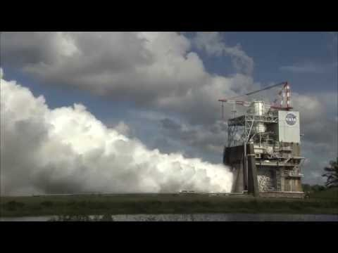 NASA VIDEO: RS 25 Rocket Engine Test Firing
