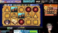 SHARKSLOTS Playing Slots Casino Hocus Pocus Deluxe Free Games Big Win 0,80$ bet.BONUS Scroll down.