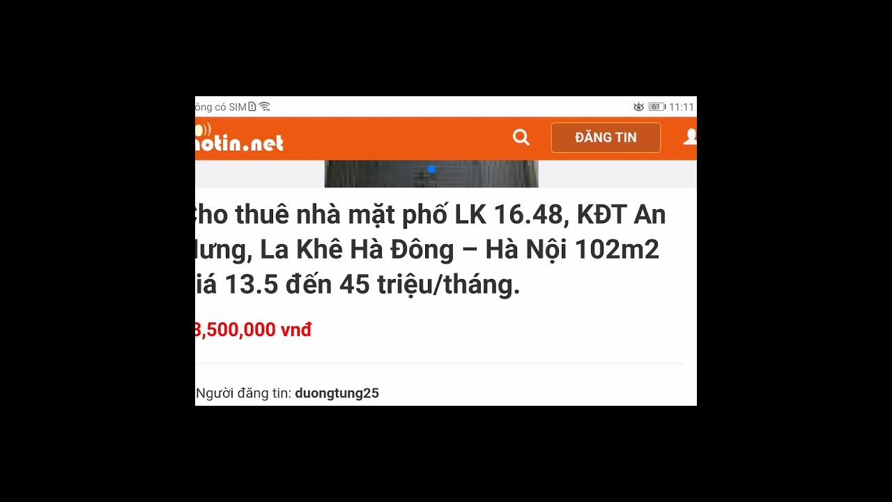 image Cho thue nhà Số 48, Liền kề 16, Khu đô thị An Hưng, Phường La Khê, Quận Hà Đông, Thành phố Hà Nội, V