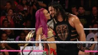 WWE Raw 07 June 2017 Roman Reigns and Sasha Banks KISSES ? This is Imposible See what's happen