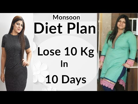 Monsoon Diet Plan For Weight Loss In Hindi | Weight Loss Diet Plan For Monsoon In Hindi