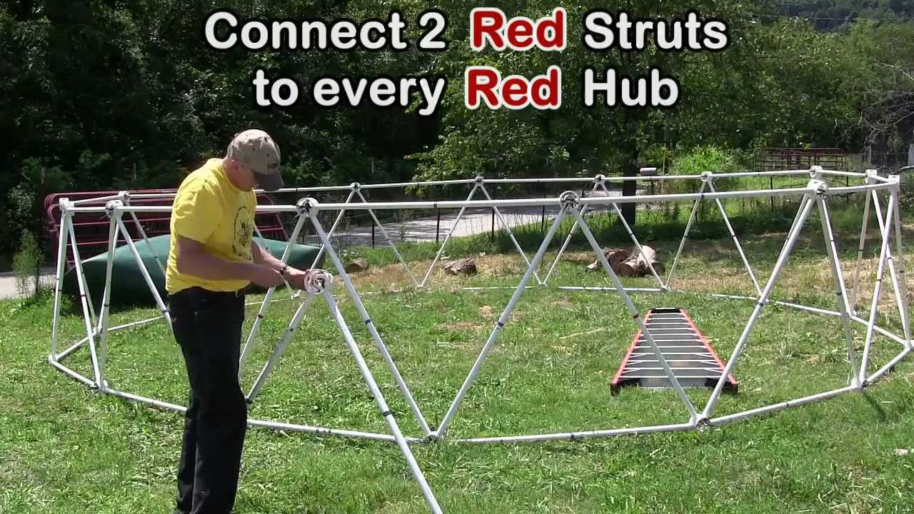 How To Build A Geodesic Dome Diy 24 Diameter 3v 5 8