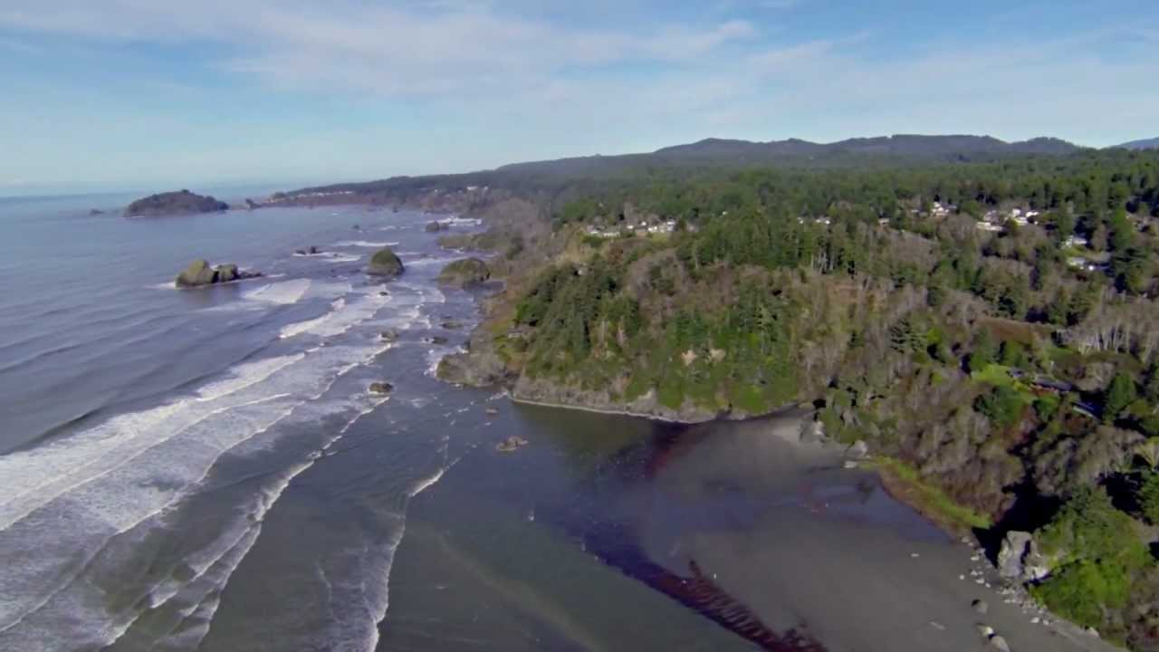 Moonstone Beach Aerial Views Trinidad California