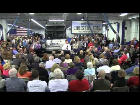 Chris Christie: Town Hall and Rally at the Nashua Community College in Nashua, NH
