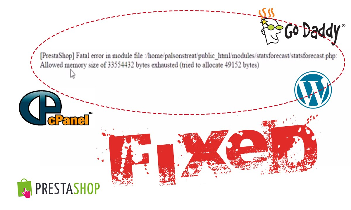 How to fix fatal error in module file and allowed memory error in ...
