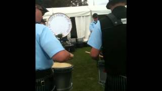 City of Adelaide Pipe Band drum corp