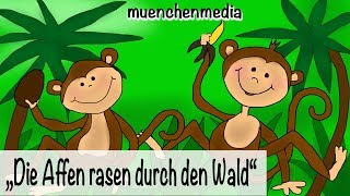 🎵 Die Affen rasen durch den Wald - Kinderlieder deutsch | Kinderparty Musik - muenchenmedia thumbnail