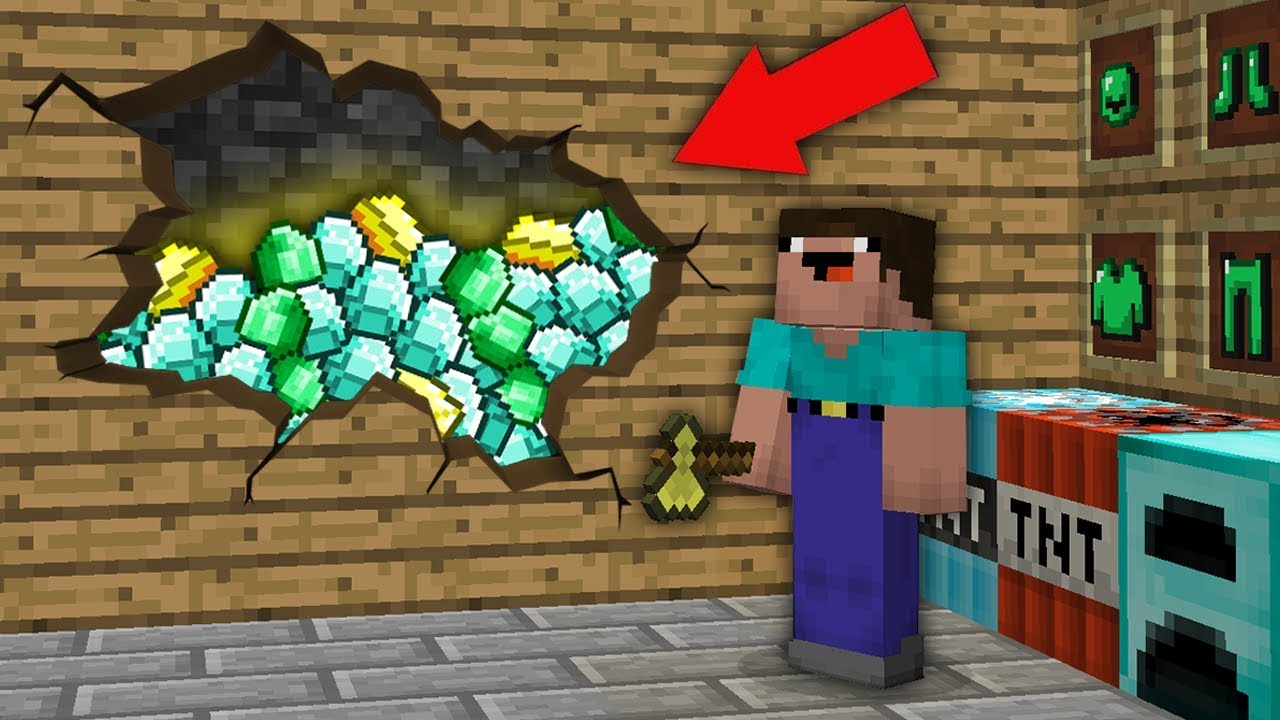 Minecraft Noob Vs Pro Noob Found This Treasure Room In Villager House Challenge 100 Trolling Youtube