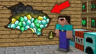 Minecraft NOOB vs PRO : NOOB FOUND THIS TREASURE ROOM IN VILLAGER HOUSE! Challenge 100% trolling
