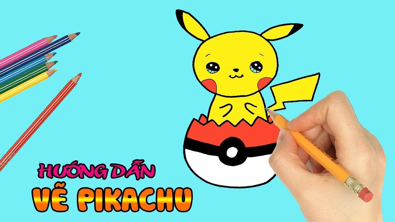 [ Cách Vẽ Con Vật ] Vẽ Pokemon -Pikachu   How to draw Pokemon