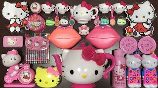 Special Series Hello Kitty Slime | Mixing Random Things into Glossy Slime | Satisfying Slime Videos