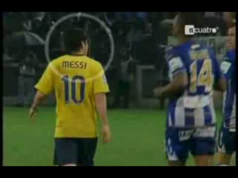 Messi escupitajo a Duda [FCBarcelona - Málaga]
