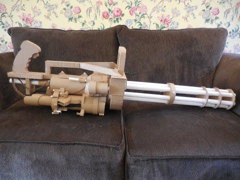 Cardboard M134 Handheld Minigun