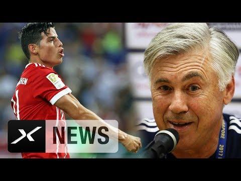 Carlo Ancelotti zufrieden mit Neuzugang James Rodriguez | FC Chelsea - FC Bayern München 2:3 | ICC