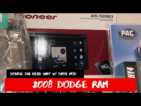 2008 Dodge Ram Pioneer Head Unit Installation With Dash Modification