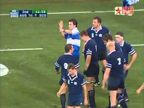 Rugby 2003. Quarterfinal. Australia v Scotland