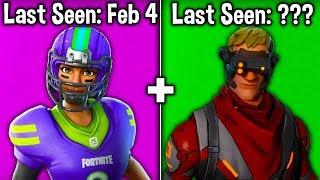 10 MORE SKINS BECOMING RARE IN SEASON 10! (Fortnite Season X Rarest Skins)